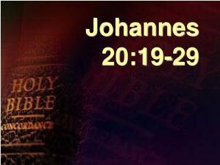 Johannes 20:19-29