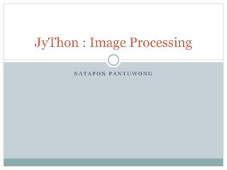 JyThon : Image Processing