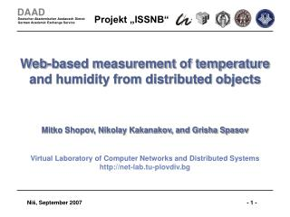 Web-based measurement of temperature and humidity from distributed objects