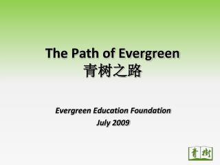 The Path of Evergreen 青树之路