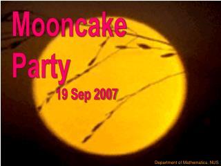 Mooncake Party