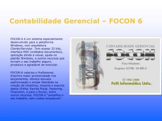 Contabilidade Gerencial – FOCON 6