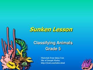 Sunken Lesson