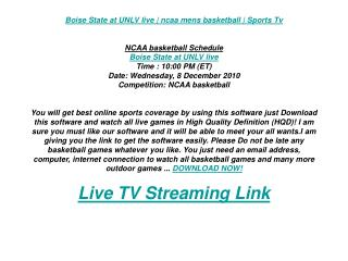 Boise State at UNLV live | ncaa mens basketball | Sports Tv