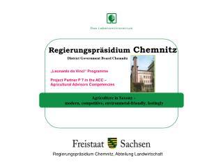 Regierungspräsidium Chemnitz, Abteilung Landwirtschaft