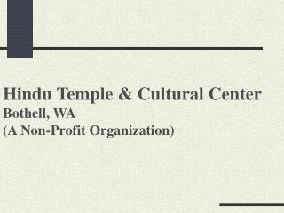 Hindu Temple  Cultural Center