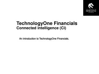 TechnologyOne Financials Connected intelligence (Ci)