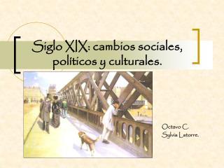 Siglo XIX: cambios sociales, pol�ticos y culturales.