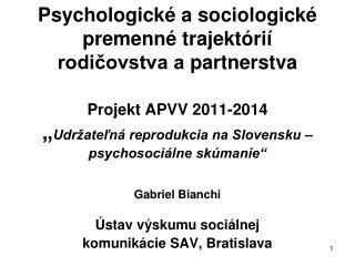 Ústav výskumu sociálnej komunikácie  SAV , Bratislava