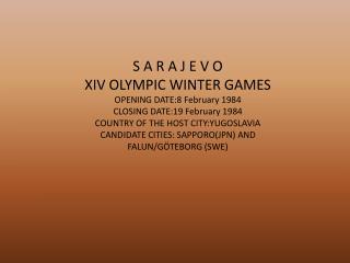 PRENESENO IZ KNJIGE:  THE TREASURES OF THE OLYMPIC WINTER GAMES