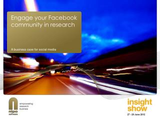 Engage your Facebook community in research