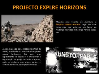 PROJECTO EXPLRE HORIZONS