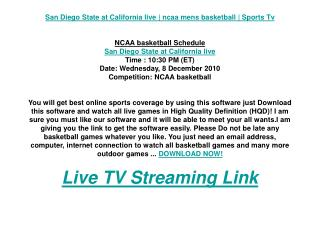 San Diego State at California live | ncaa mens basketball |