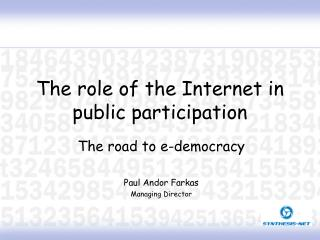 The role of the Internet in public participation