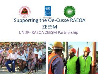 Supporting the  Oe-Cusse  RAEOA ZEESM