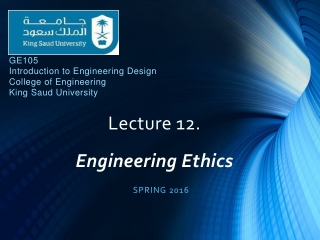 An Introduction to Engineering Ethics