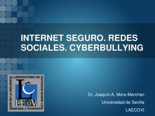 INTERNET SEGURO. REDES SOCIALES. CYBERBULLYING