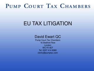 EU TAX LITIGATION
