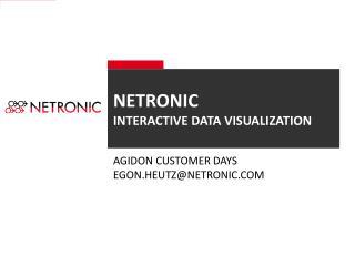 Netronic Interactive Data visualization