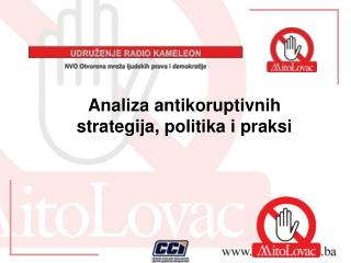 Analiza  antikoruptivnih strategija, politika i praksi