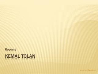 Kemal Tolan