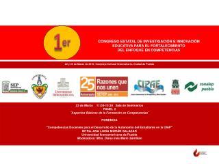 23 de Marzo    11:00-13:30   Sala de Seminarios PANEL 2