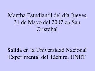 Encuentro con los estudiantes de la ULA, Núcleo Táchira