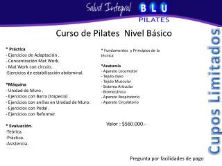 Curso de Pilates  Nivel B sico