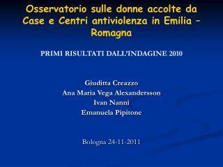 Osservatorio sulle donne accolte da Case e Centri antiviolenza in Emilia – Romagna