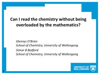 Can I read the chemistry without being overloaded by the mathematics ?