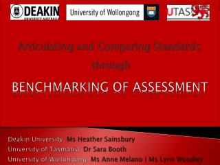 BENCHMARKING OF ASSESSMENT