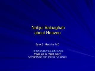 Nahjul Balaaghah about Heaven