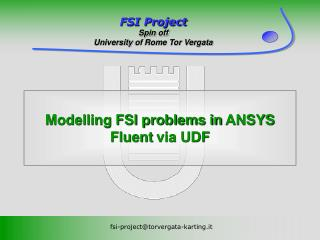 Modelling FSI problems in  ANSYS Fluent  via UDF