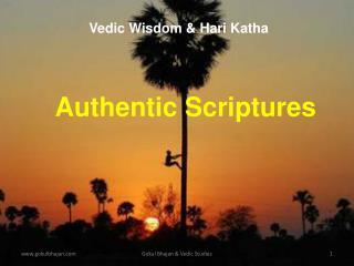 Authentic Scriptures