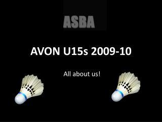 AVON U15s 2009-10