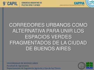UNIVERSIDAD DE BUENOS AIRES Facultad de  Agronomía