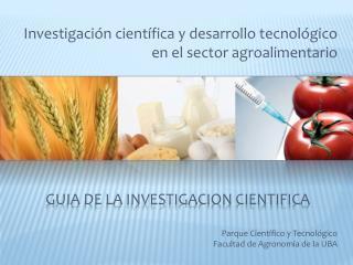 GUIA de la investigacion cientifica