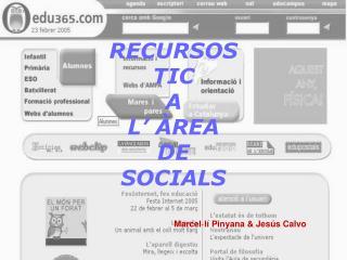RECURSOS  TIC  A  L' ÀREA  DE  SOCIALS