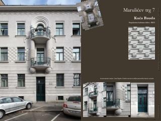 Marulićev trg 7 Kuća Bauda Nepokretno kulturno dobro - REG