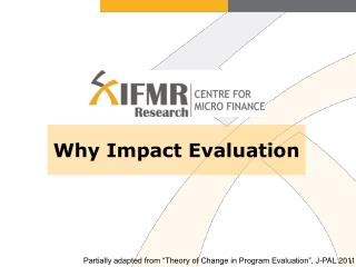 Why Impact Evaluation