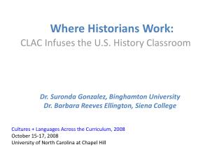 Where Historians Work: