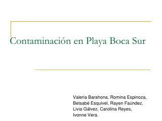 Contaminaci n en Playa Boca Sur