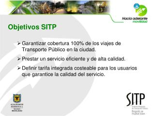 Objetivos SITP
