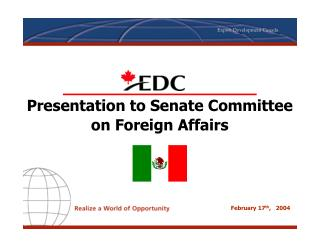 Presentation to Senate Committee on Foreign Affairs