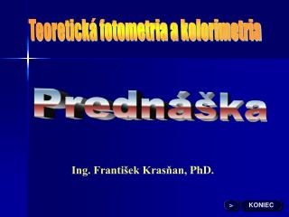 Teoretická fotometria a kolorimetria