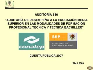 AUDITORÍA 560