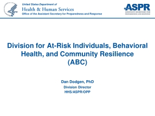 HHS, ASPR and  the ABCs