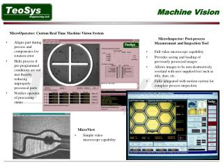 MicroOperator: Custom Real Time Machine Vision System