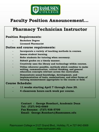 Faculty Position Announcement