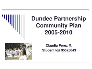 Dundee Partnership Community Plan 2005-2010